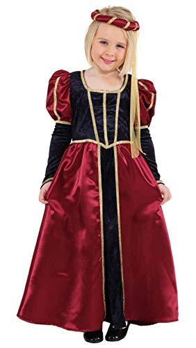 Faschingskostüm Kinder Burgfräulein Gr. 152
