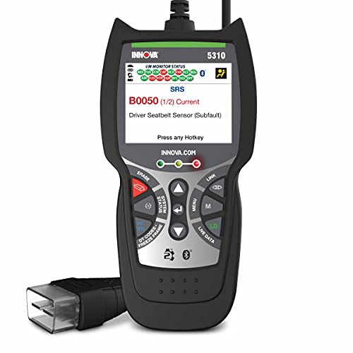 INNOVA CarScan Inspector 5310 Code Scanner - Professional OBD2 Code Reader - Emission Test Scan Tool - SRS & Oil Light Reset - RepairSolutions2 App