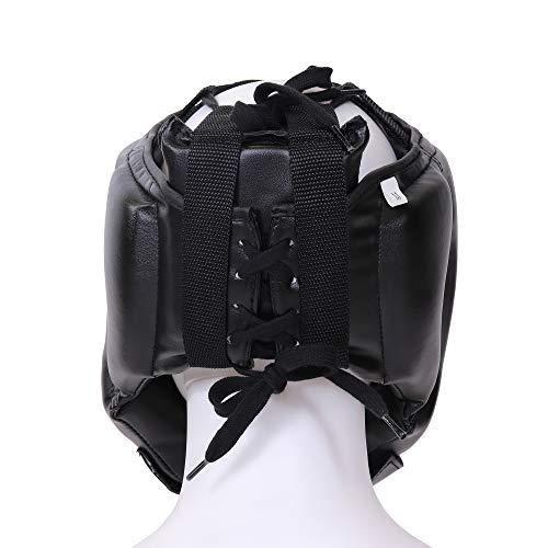 Gorilla Sports Kopfschutz Gesichtsschutz Headgear schwarz S L für Sparring Boxen Kickboxen Muay Thai MMA Abbildung 3