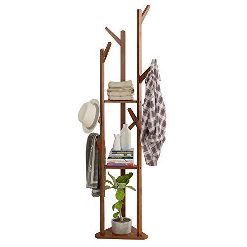 Perchero En El Piso, Dormitorio, Estante Para Colgar, Simple De Bambú, Simple, Moderno, Estante Para Almacenamiento, Estante De Almacenamiento