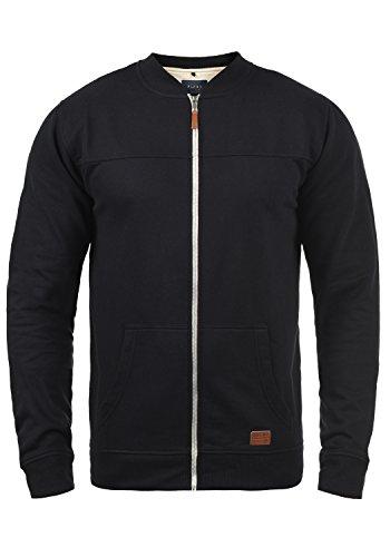 Blend Arco Herren Sweatjacke Collegejacke Cardigan Jacke Mit Kurzem Stehkragen, Größe:M, Farbe:Black (70155)