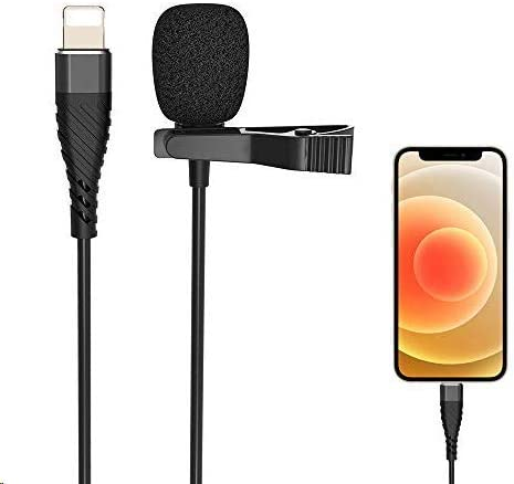 Microphone Professional for iPhone Grade Lavalier Lapel Microphone Phone Audio Video Recording product image