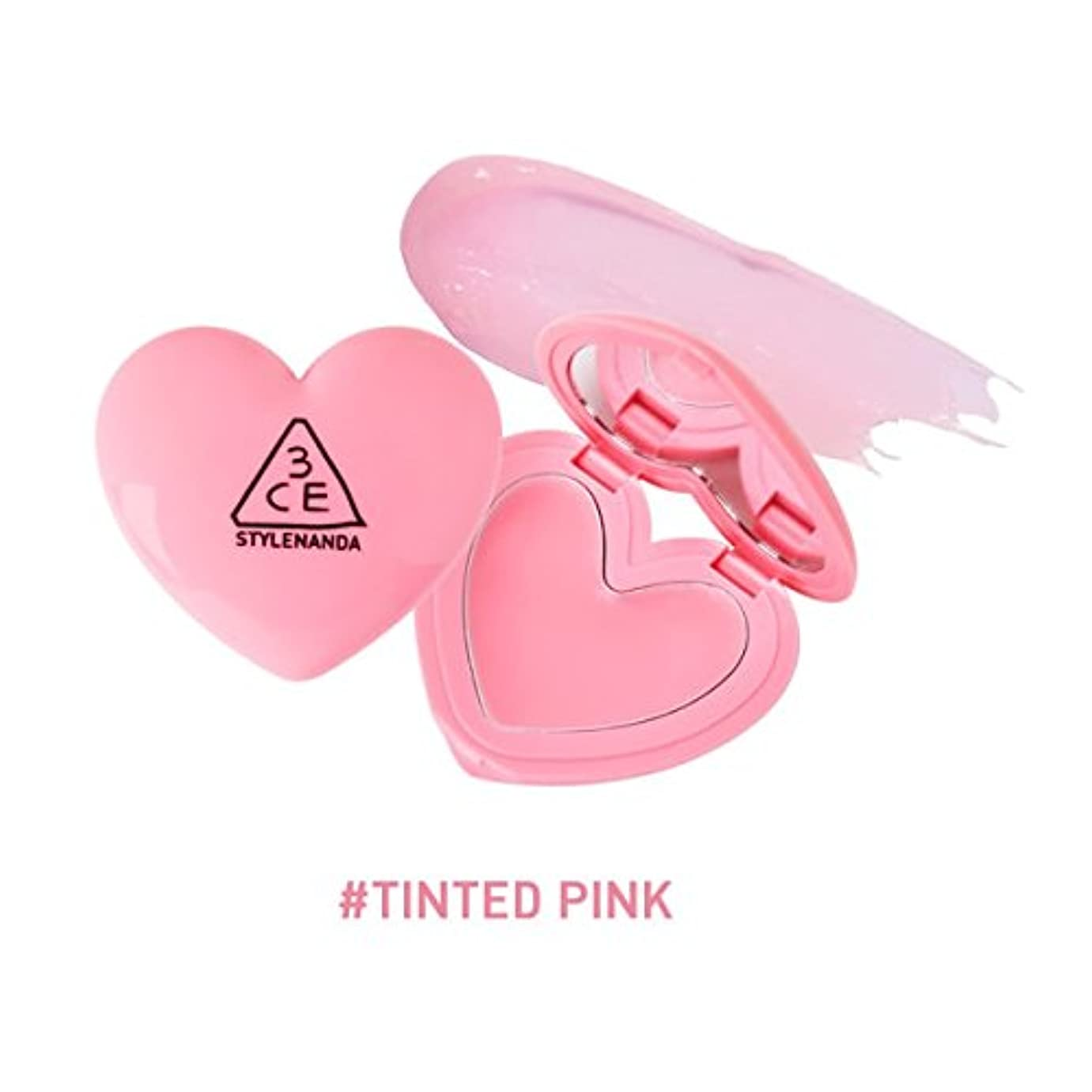 貧困ドループシャッフル3CE ハート ポットリップ / HEART POT LIP (1.4g) (TINTED PINK) [並行輸入品]