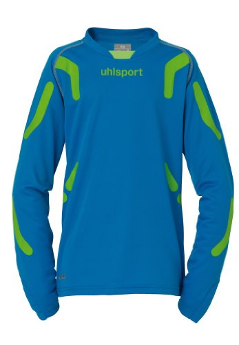 uhlsport Trikot Torwarttech Tw Junior Set, cyan/grünflash, M