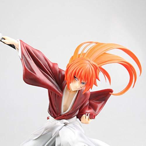 AMrjzr Rurouni Kenshin dibuja una Espada en Caja figura-18CM-estatua de PVC
