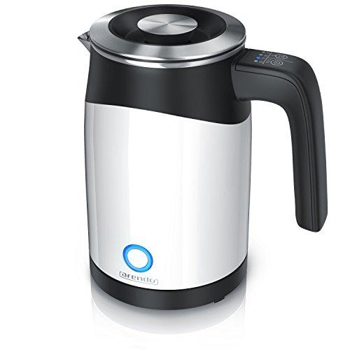 Arendo - 0,5l Edelstahl Wasserkocher mit Temperatureinstellung im Doppelwand-Design - 0,5l Wasser-Füllmenge - 5 Temperaturstufen einstellbar - Warmhaltefunktion - Energiesparend