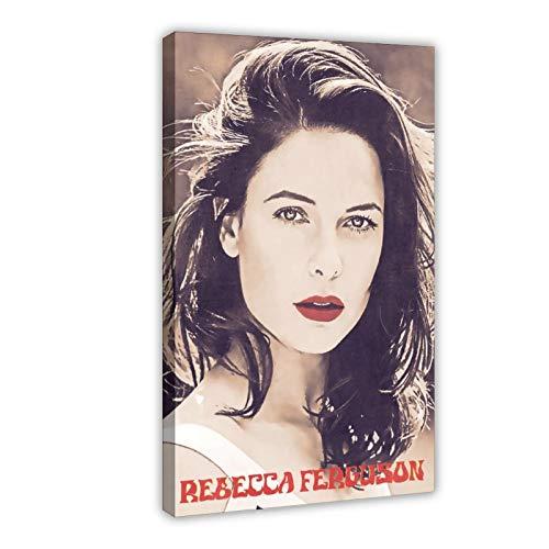 Rebecca Ferguson, 10 poster in tela con film e televisione svedese per camera da letto, sport, paesaggio, ufficio, decorazione regalo, 50 x 75 cm, cornice stile 1