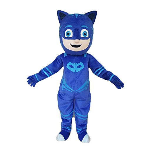 Blue Catboy Costume with Mask Full Body Mascot Adult Catboy Fancy Dress