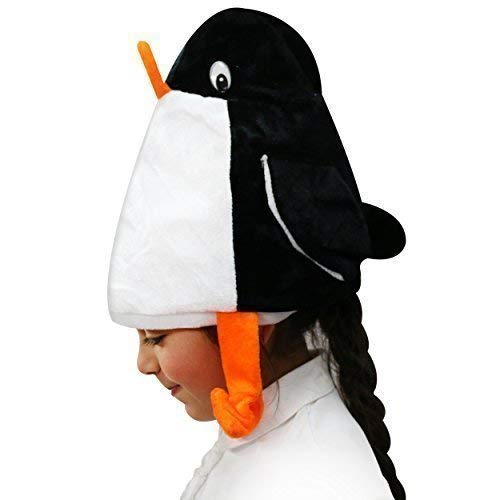 Novelty Christmas Penguin Hat with Hanging Legs