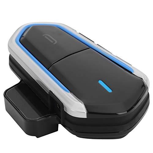 Auricular Bluetooth para Motocicleta, Casco Impermeable para Motocicleta Auricular Bluetooth Auricular estéreo inalámbrico Cancelación de Ruido Auricular Bluetooth Intercomunicador con micrófono