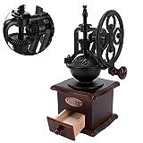 Molinillo manual de granos de café, molinillo manual de madera de estilo vintage Molinillo de café manual Molinillo de café de manivela para café por goteo/prensa francesa/expreso