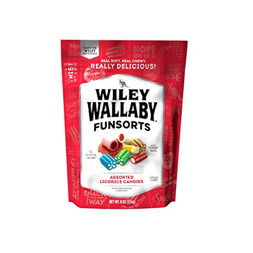 Wiley Wallaby Licorice, Funsorts, 8 Ounce Bag