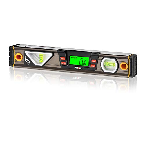 PREXISO Digital Level, 11.5'', Angle Slope with LCD Display, 360° Electronic Bubble Inclinometer, Vertical & Horizontal Spirit Bubble for Construction Carpenter Craftsman Renovation Home Professional
