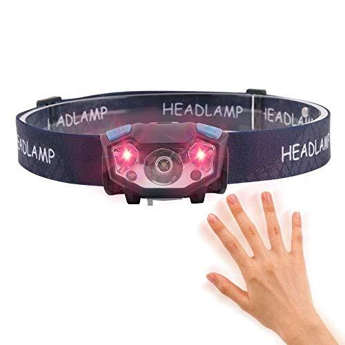 Linterna Frontal,Linterna LED de 35000 lúmenes USB recargable Luz de casco dura súper brillante, lámpara de cabeza de casco Uso potente