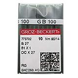 AGUJA GROZ-BECKERT - 100 Unidades Groz Beckert DCX27 DCX1 B27 Industrial Serger Overlock A...