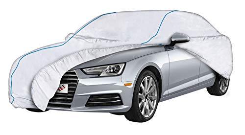 Walser Premium Autoplane Sun Reflect, UV-Schutzplane Auto, Hitzeschutz Auto, Sonnenschutz Vollgarage, Lackschutz Autoabdeckung, Autogarage