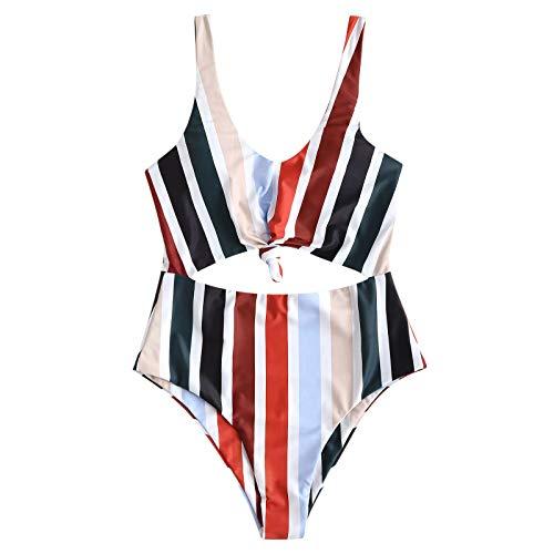 Bikini Traje BañO con Estampado De Pierna Corte Alto Cordon