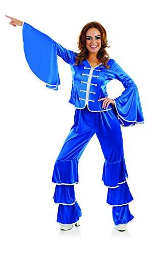 Fun Shack Azul Miembro De Grupo De Los Años 70 Disfraz para Mujeres - M