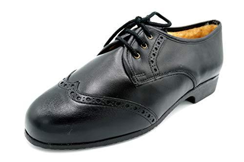 Drucker 985 Negro - Zapato de Piel con Abrigo (39 EU)