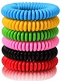 Reusable Bracelet 24 Pack, Natural and Waterproof Wrist Bands for Adults, Kids, Pets-Nature Citronella,...