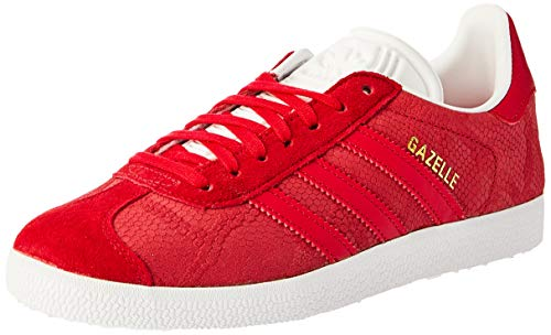 adidas Damen Gazelle Sneaker, Rot Rojfue/Ftwbla 0), 36 2/3 EU