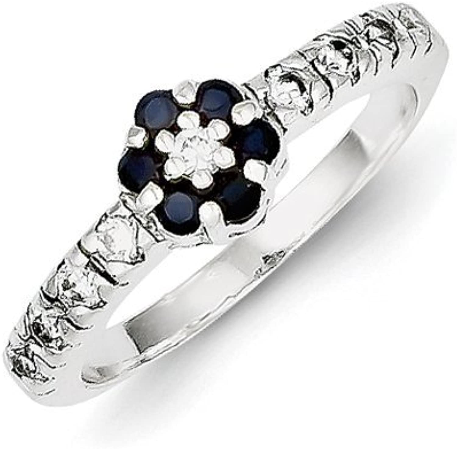 gold and Watches Sterling Silver w CZ Sapphire Ring