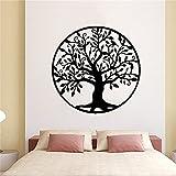Árbol de la vida decoración de la pared decoración del hogar dormitorio árbol silueta pared pegatina arte vinilo pared pegatina A2 43x43cm