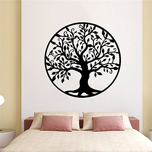 Árbol de la vida decoración de la pared decoración del hogar dormitorio árbol silueta pared pegatina arte vinilo pared pegatina A9 43x43cm