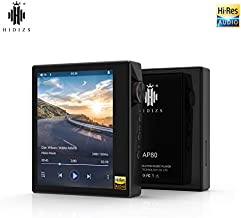 HIDIZS AP80 High Resolution Lossless MP3 Music Player with LDAC/aptX/FLAC/Hi-Res Audio/FM Radio, Hi-Fi Bluetooth Audio Player with Full Touch Screen (Black)