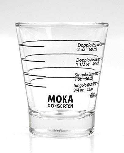 Moka Consorten Italienisches Espresso Shotglass   spülmaschinen...