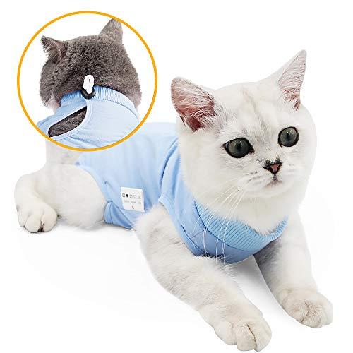 oUUoNNo Wundchirurgie-Wiederherstellungsanzug für Katzen bei Bauchwunden oder Hautkrankheiten, nach der Operation, Pyjama-Anzug, E-Kragen-Alternative für Katzen