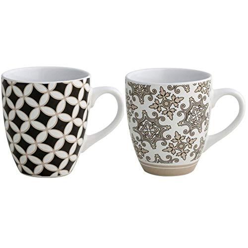 Brandani 53177Alhambra Tazza, Set 2 pezzi, Stoneware multicolore