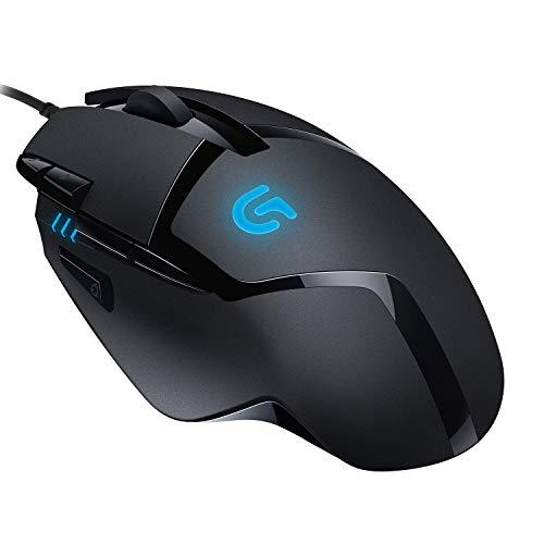 Logitech G402 Mouse Gaming Hyperion Fury, 4.000 DPI, Design Leggero, 8 Pulsanti Programmabili, Compatibile con PC/Mac/Laptop, PC/Mac, Nero