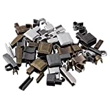Cqinju-Cremalleras 24 set Metal Zipper Head Sliders Sliders Inserción de retención Pin Zipper Top Accesorios para la chaqueta de abrigo, Robusto y duradero ( Color : Assorted Color , Size : 1.7X1CM )