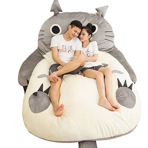 Tatami Matratze Paar Anime Totoro Schlafsack Weiche Plüsch Große Cartoon Bett Tatami Sitzsack Matratze Kinder und Erwachsene Geschenk,120 * 80cm