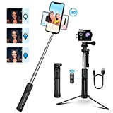 Mpow Selfie Stick, 3 Level Fill Light & All in 1 Portable