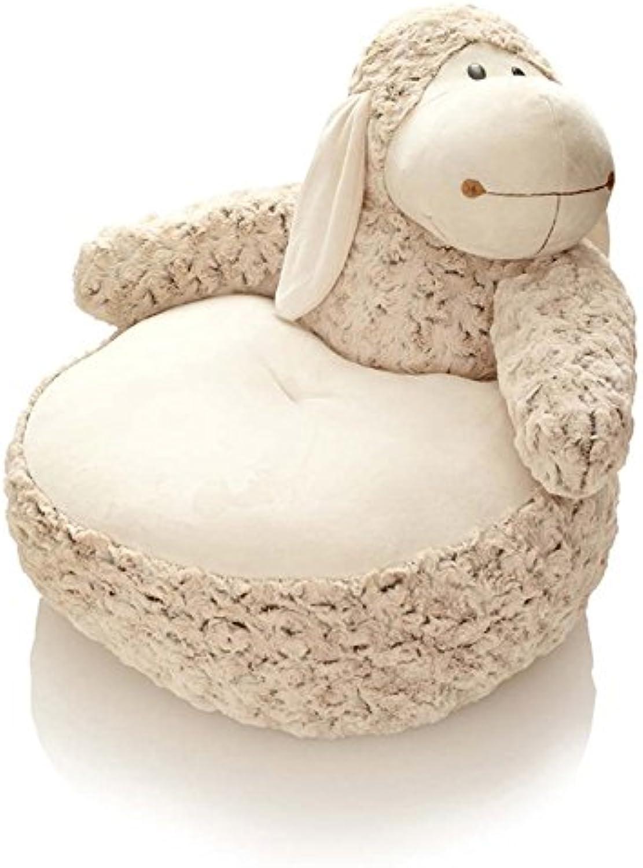 Hansen Plüsch Schaf Sitzkissen   Sitzsack Rschenplüsch   50 x H 45 cm braun   Lamm Lmmchen für Kinder