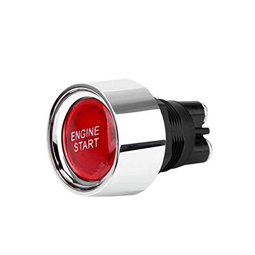 LQKYWNA Interruptor De Arranque del Motor del Coche Botón De Arranque del Motor Accesorios para Automóviles Interruptor De Encendido Universal Interruptor De Botón De Arranque De Un Botón