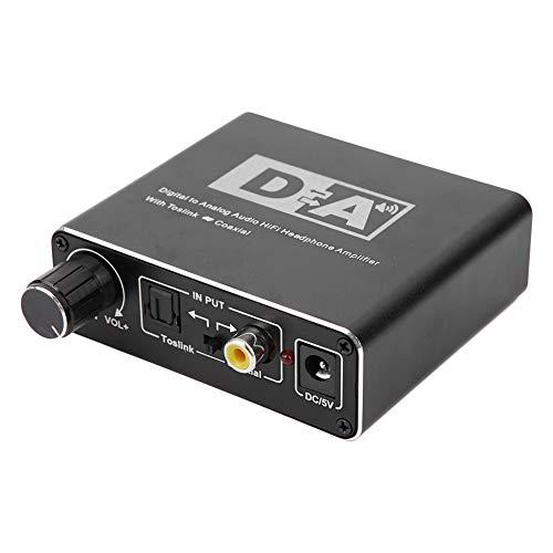 Convertitore di segnali audio digitali, convertitore audio portatile Fibra ottica coassiale digitale ad adattatore di segnale analogico R/L Amplificatore stereo jack da 3,5 mm