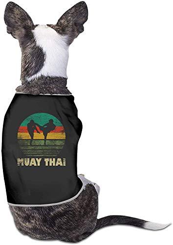 Vintage Muay Thai Hundekleidung Niedlicher Druck Haustier Katze Hemden Weiches Geburtstags-Outfit-Klein