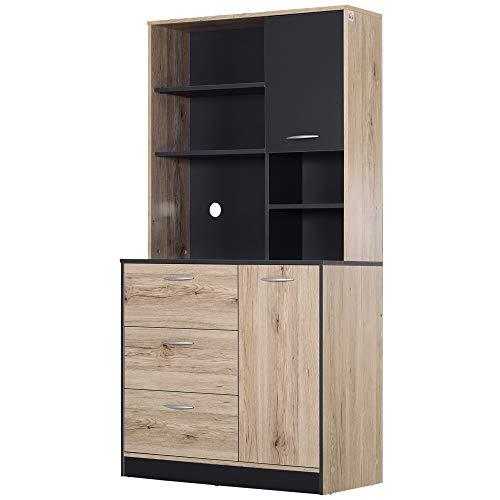"""HOMCOM 67"""" Modern Freestanding Kitchen Cupboard Cabinet   Amazon"""