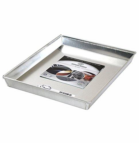 Pentole Agnelli Pasticceria e Pizza Teglia Rettangolare in Lega d'Alluminio 3003 con Orlo, Grigio, 30x23x3 cm
