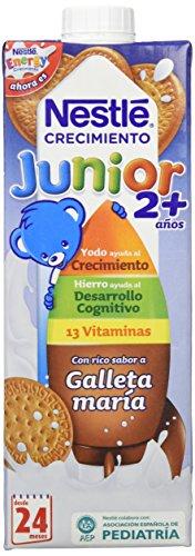 Nestle - Leche Junior Crecimiento con sabor a galleta María +2 años, 6 x 1L - Total: 6 L