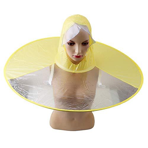 Yukie 1pc creativo impermeable paraguas gorra capucha sombrero plegable al aire libre pesca golf niños adultos impermeable cubierta transparente paraguas S
