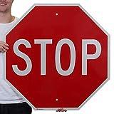 SmartSign 'STOP' MUTCD Sign | 30' x 30' 3M Engineer Grade Reflective Aluminum