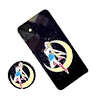 IPhone ケース アイフォン カバー 強化ガラスケース 感応発光 9Hガラスフィルム付き 全機種 iPhone 7 8 plus X 11pro max 光る Qi充電対応 カメラ保護 全面保護 指紋防止 一体型 人気 美少女 おしゃれ かわいい (色 : 美少女1, サイズ : XS MAX)