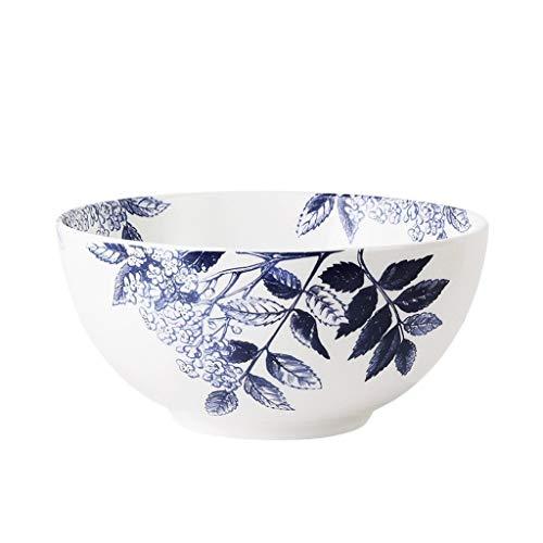 Tazón Pequeño cuenco de cerámica azul retro creativo de tazón de sopa de ensalada de frutas tazón de 6 pulgadas y familiares práctica vajillas hogar, tazón retro