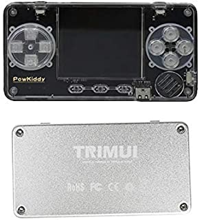 Powkiddy TRIMUI カードゲーム機ミニゲーム機 超軽量 レトロゲーム機 自主開発のUI TF拡張可 軽量80g シルバー