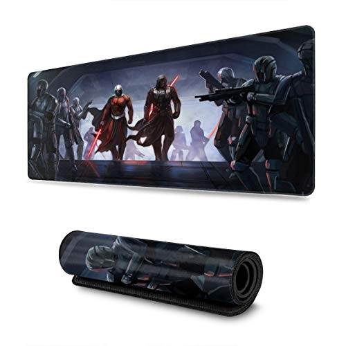 Star Wars Mouse Pad Rectangle Non-Slip Rubber Electronic Sports Oversized Large Mousepad Gaming Dedicated,for Laptop Computer & PC 11.8X31.5 Inch