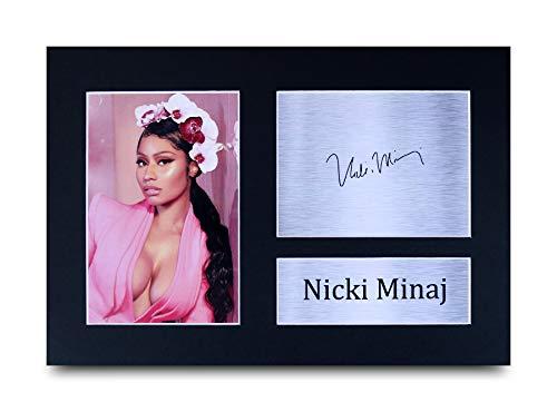 HWC Trading Nicki Minaj A4 Ungerahmt Signiert Gedruckt Autogramme Bild Druck-Fotoanzeige Geschenk Für Musik-Fans